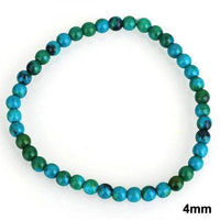 Chrysocolla Earth Stone Bracelet 4mm Bracelet