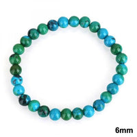 Chrysocolla Earth Stone Bracelet 6mm Bracelet