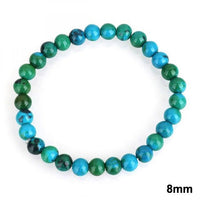 Chrysocolla Earth Stone Bracelet 8mm Bracelet