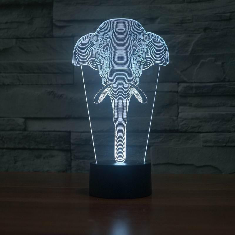 Classic Elephant 3D Illusion LED Table Lamp 3D Lights ... - Classic Elephant 3D Illusion LED Table Lamp - Project Yourself