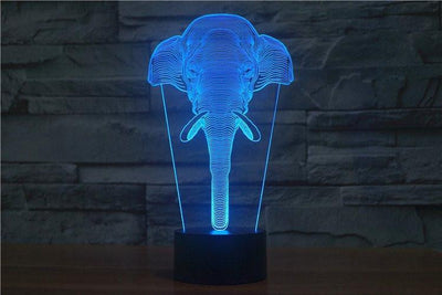 Classic Elephant 3D Illusion LED Table Lamp 3D Lights
