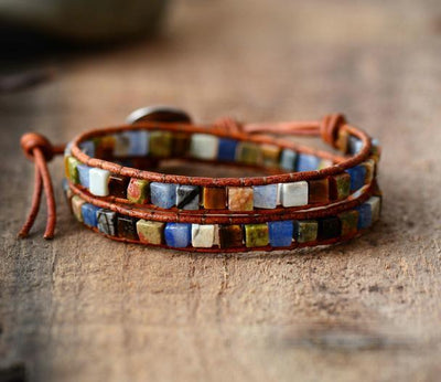 Colorful Life Mixed Stone Double Wrap Bracelet Courageous Bracelet