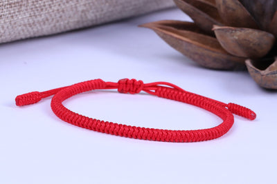 """Colors of Life"" Lucky Handmade Buddhist Knots Rope Bracelet 11 Bracelet"