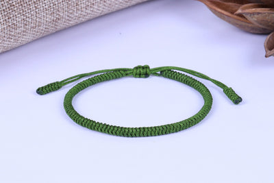 """Colors of Life"" Lucky Handmade Buddhist Knots Rope Bracelet 18 Bracelet"