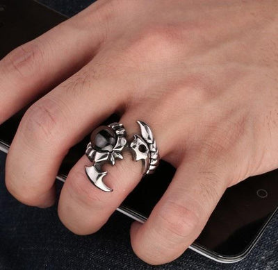 Cool Stainless Steel Crystal Scorpion Ring Rings