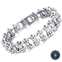Cool Stainless Steel Men's Biker Chain Bracelet Silver Bracelet