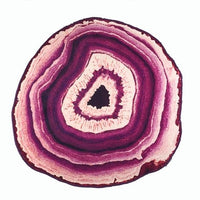 Crystal Geode Slice Rug Purple / Diameter 60cm Tapestry