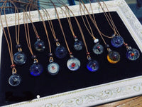 Crystal Glass Universe Necklace Necklace