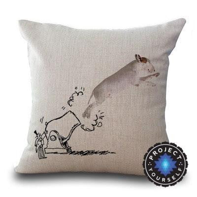 Cute Bull Terrier Printed Cushion Covers Cannon / 45cm x 45cm Decoration