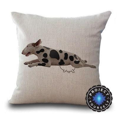 Cute Bull Terrier Printed Cushion Covers Cow / 45cm x 45cm Decoration