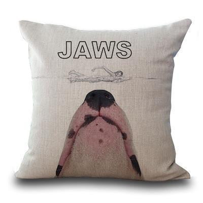 Cute Bull Terrier Printed Cushion Covers Jaws / 45cm x 45cm Decoration
