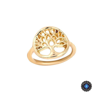 Cute Sacred Tree Of Life Ring 18K Gold Plated Rings