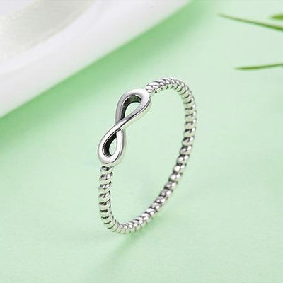 Dainty Sterling Silver Infinity Ring Rings