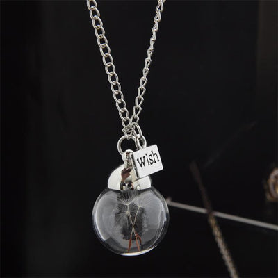 Dandelion Pendant Necklace Necklace