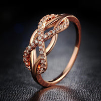 Dazzling Crystal Infinity Ring Rings