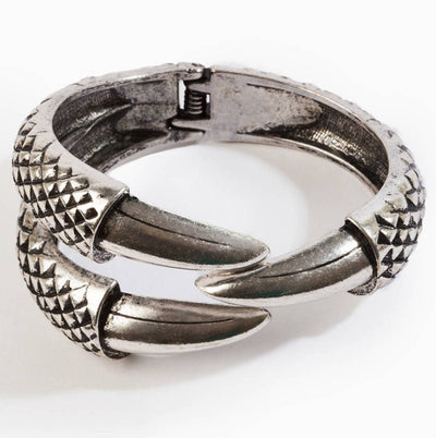 Dragon Claw Clamp Cuff Antique Silver Plated Bracelet