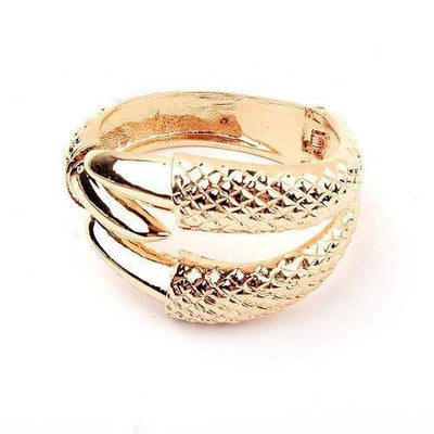 Dragon Claw Clamp Cuff Gold Bracelet