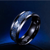 Dragon Titanium Ring Black and Blue / 6.5 Rings