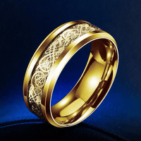 Dragon Titanium Ring Gold and Gold / 6.5 Rings