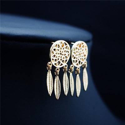 Dream Catcher Jewelry Gold Earring Jewelry Set