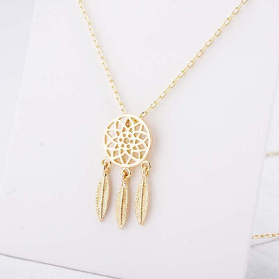 Dream Catcher Jewelry Gold Necklace Jewelry Set