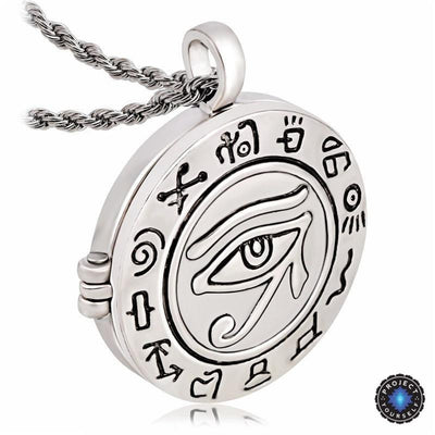 Egyptian Eye of Horus Locket Necklace Necklace