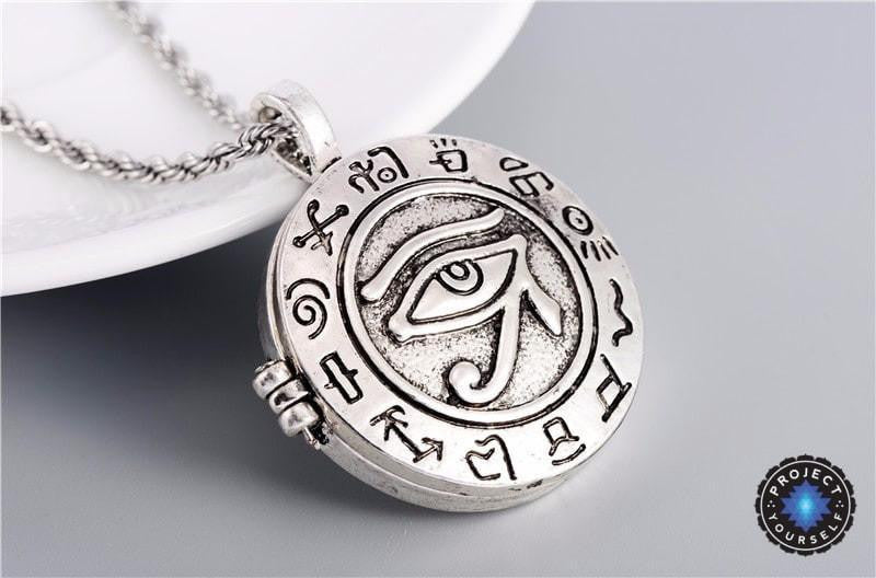 charms jewelry vintage ancient necklace antique horus egyptian eyes spiritual amulet unisex egypt pendant item