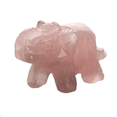 Elephant Stone Totem Rose Quartz Crystals