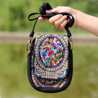 Embroidered Floral Boho Purse Bags
