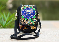 Embroidered Floral Boho Purse Purple 1 Bags