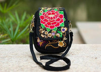 Embroidered Floral Boho Purse Red 1 Bags