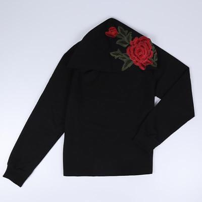Embroidered Rose Hoodie Shirt / Hoodie