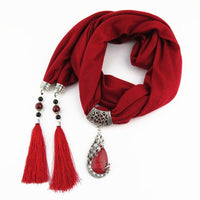 Enchanting Phoenix Stone Tasseled Scarf Clothing