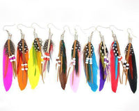 Ethnic Dreamer Feather Dangling Earrings Earrings