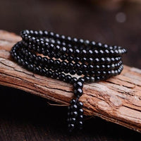 Euphoria Rainbow Obsidian Multi-Wrap Bracelet 5mm With Obsidian Bracelet