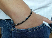 Evil Eye Protection Black Onyx Bracelet Hematite 2 Bracelet