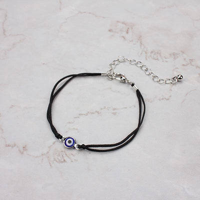 Evil Eye Protection Bracelet black silver Evil Eye Jewelry