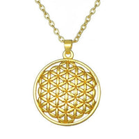 Flower of Life Pendant Necklace Silver Plated Gold 1 Necklace