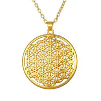 Flower of Life Pendant Necklace Silver Plated Gold 3 Necklace