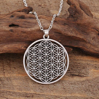 Flower of Life Pendant Necklace Silver Plated Necklace