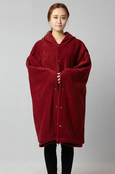 Flowing Meditation Zen Robe Red w/ Buttons / M Mind and Spirit