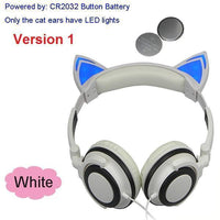 Foldable LED Cat Ear Headphones White Ver.1 Accessories