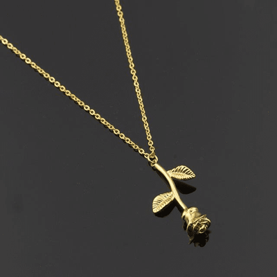 Forever Rose Necklace Gold Necklace