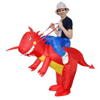 Funny Inflatable Costumes Red Dinosaur Costume