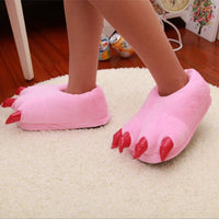 Fuzzy Monster Feet Plush Indoor Slippers Costume