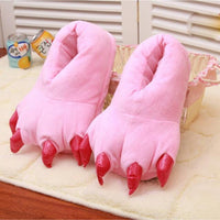 Fuzzy Monster Feet Plush Indoor Slippers Pink / 11 Costume