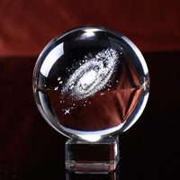 Galaxy Gazer Crystal Ball 6 CM / With Crystal Base Decor