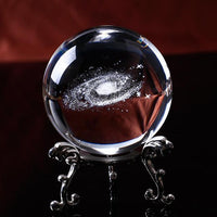 Galaxy Gazer Crystal Ball 6 CM / With Silver Base Decor