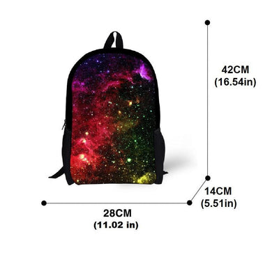 Galaxy Space Star Backpacks Bags