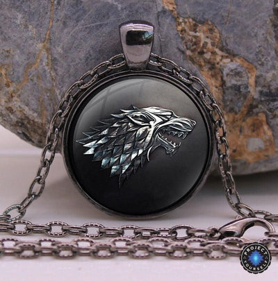 Game of Thrones Stark Pendant and Necklace Dire Wolf Necklace
